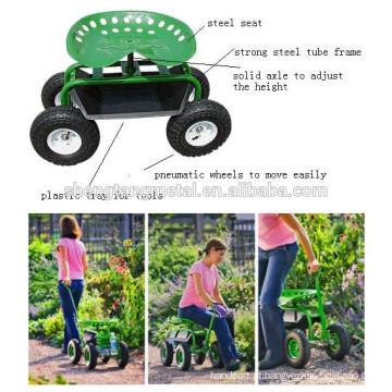 trabalho de jardim aço assento carrinho