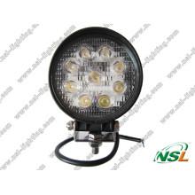 Luz de trabalho LED 27W com feixe de luz / feixe de lápis fora da estrada