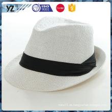 Späteste Ankunftsqualitätsart und weise cotton & jute Gewebe Stroh Fedora Männer Hut freie Probe China Lieferanten