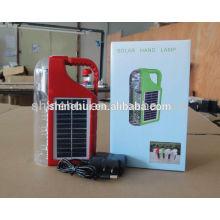 Lámpara de mano de estilo plástico lámpara solar de emergencia cargador de radio