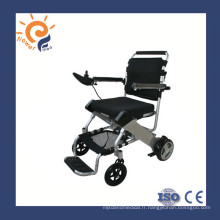 Chaises roulantes électriques fauteuil roulant en aluminium avec batterie