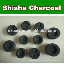 Smokless Long Burning Time 33 milímetros de carvão vegetal de madeira de caranguejo shisha de carvão vegetal