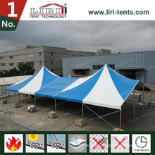 Luxury Custom Made High Peak Tent with Blue and White Color for Events