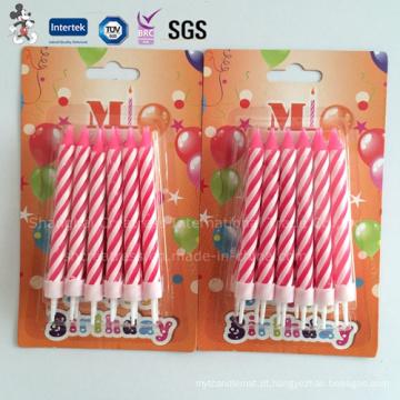 O profissional personalizado novo popular produz a vela do aniversário do atarraxamento de China