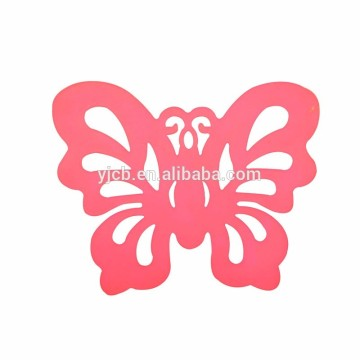 Silicone Lovely Butterfly Shape Cup Coaster Creative Rubber Cup Coaster