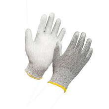 Polyester Shell White PU Coated Electronic Work Gloves