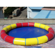 Tecido laminado de PVC para piscina circular