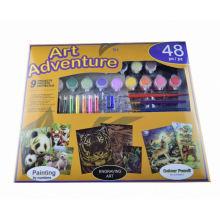 dibujo del número del color de agua de los niños, kits del sistema de pintura