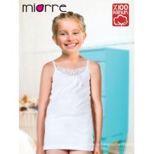 Девушка удобные элегантные Miorre OEM детей детский кружева детальный 100% хлопок майка