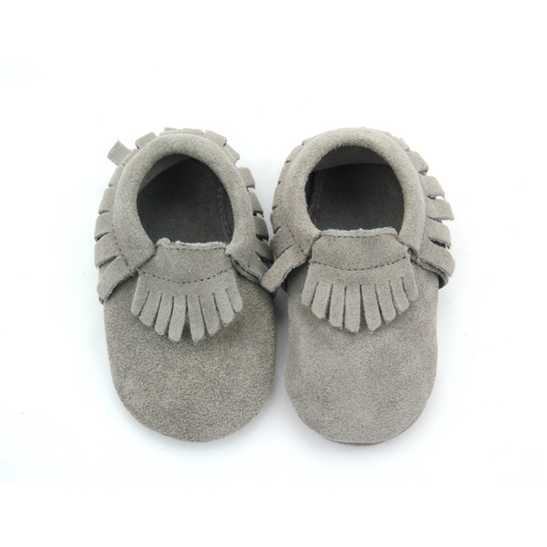 Mix Color Suede Leather Baby Moccasins