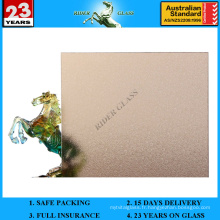 3-8mm Bronze Nashiji Pattened Figured Glass avec AS / NZS2208: 1996