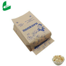 Brown kraft greaseproof paper bag for microwave popcorn