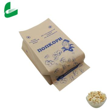 Papel de palomitas de microondas biodegradable resellable de materia prima