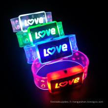 nouveau produit lettres d'amour conduit braceket pour mariage