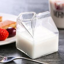 Heatable Glass Milk Carton, Clear Mini Creamer Container, Creamer Pitcher for Milk, Coffee, Water, Juice