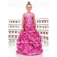 Beaded appliqued custom-made pageant dress flower girl dresses CWFaf3354