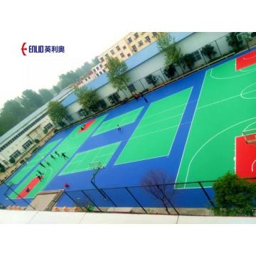 Ubin Lapangan Bola Basket Plastik Interlocking