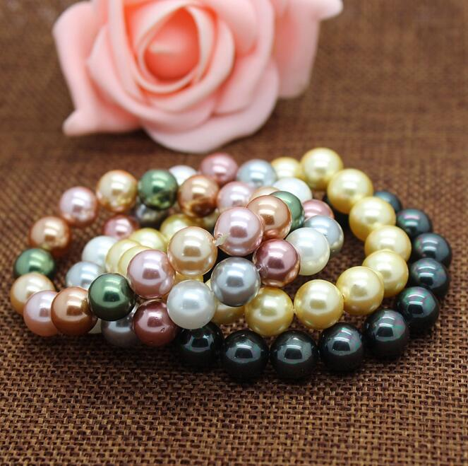 colorful shell pearl bracelets