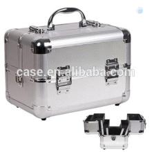 Silver Color Make Up Aluminum Portable 3 Layer Train Case New