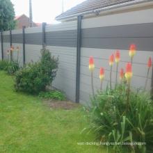 wood WPC vinyl outdoor garden privacy screening fence
