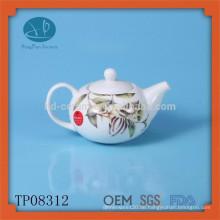 Keramik-Teekanne mit Abziehbild, modische Keramik-Teekanne mit Design, handbemalte Teekanne