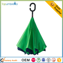 2017 new windproof double layer inverted reverse umbrella for sale