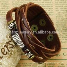 2015 nueva pulsera de cuero de la pulsera de la pulsera de cuero de los hombres multicolores retros de la pulsera PH792