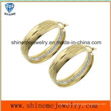 Shineme ювелирные изделия вакуумной Плакировкой золота серьги с CZ (ERS6965)