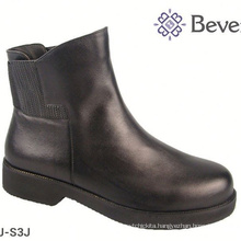 black leather wide cowboy riding boot
