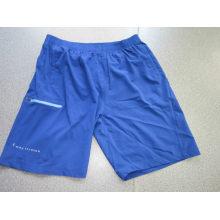 Yj-3020 Mens Blue Elastic Stretch Athletic Gym Schnell trocken Shorts