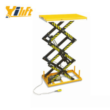 extra handrail electric three scissor lift table for high altitude