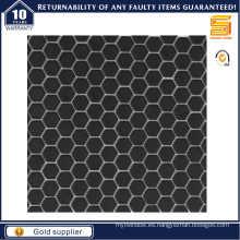 Mosaico de cerámica hexagonal negro / blanco
