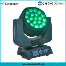 Bienen-Augen-Stadiums-Ausrüstung RGBW 19 durch 15W Zoom-PAR LED-beweglicher Kopf