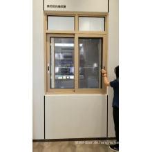 Büro, das Aluminiumglasfenster mit Moskitonetz schiebt