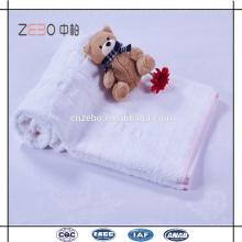 100% algodão Jacquard estilo branco toalhas de banho em massa Economia Hotel toalhas