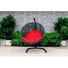 COLECCIÓN EAGLE - Modelo RAHM-011 El diseño más caliente Moderno Silla de huevo de ratán sintético Muebles de jardín-Hamaca