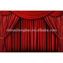Estágio cortinas motor veludo vermelho cortina de palco