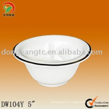 Factory direct wholesale 5 Inch ceramic bowl microwave safe