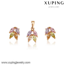 64242 Xuping wholesale Tiny gold plated jewellery sets