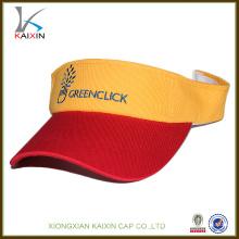 Custom made design your own logo embroidery high quality sun visor