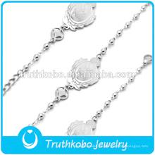 pulsera rosario de plata cadena gruesa estilo fresco buena suerte pulsera de la joyería china