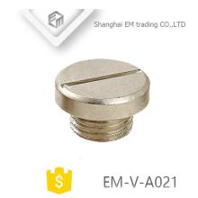 EM-V-A021 Tapa de la tapa de tornillo de China Tapón ciego de metal para tamaños de prensaestopas PG16