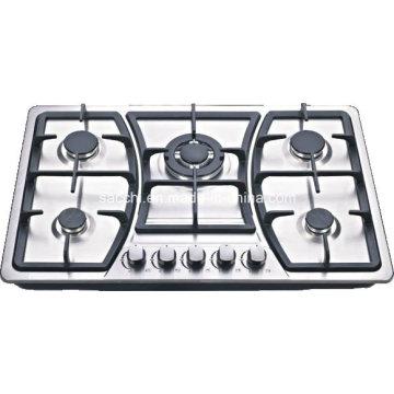 Sabaf 5 Burner Stainless Steel Gas Hob