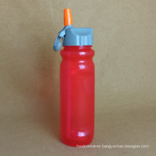 Plastic Sport Bottle with Straw