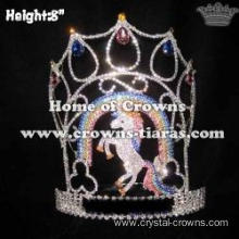 Wholesale Vintage Crystal Unicorn Pageant Crowns