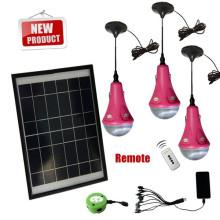Mini solar iluminación sistema 3/6/9/12/15W solar luz kits para el hogar para África