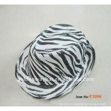 Mode bon marché Papier Fedora Chapeaux nouveau chapeau zèbre