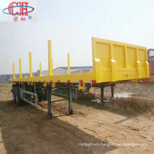 Timber Transport Loading Flatbed Semi Trailer