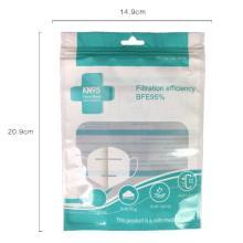 Custom Print Heat Sealable Face Mask Plastic Bag