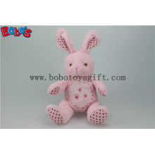"8.3"" Pink Softest Stuffed Bunny Animal with Embroidery Chest for Baby Bos1153"
